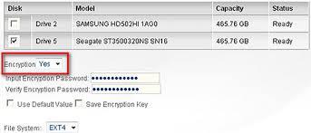 encrypted file system setup qnap