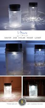 how to make a 5 minute solar night light for kids save money help steps for frosted mason jars