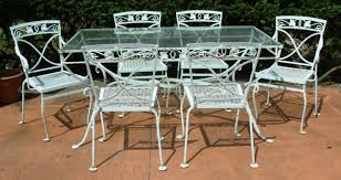 wrought iron wicker outdoor furniture white. Gorgeous Vintage Wrought Iron Outdoor Furniture A Salterini 7 Pc Dining Set Mt Vernon Joan Bogart Wicker White .