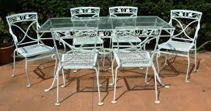 gorgeous vintage wrought iron outdoor furniture a salterini 7 pc wrought iron dining set mt vernon