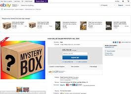 an item listed as high value 40 000 mystery l box has had over