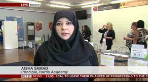 """Harris Federation on Twitter: """"Principal of @HarrisMertonCR4 Aisha Samad  was just on @BBCNews talking about #GCSEresults - http://t.co/DMfafJZBgZ  http://t.co/W3afUhMNBK"""""""