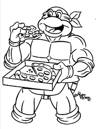 Small Picture Ninja turtle coloring pages eat pizza ColoringStar