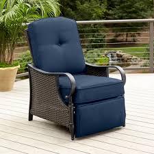 Patio Recliner Chairs La Z Boy Outdoor Kayla Recliner Blue