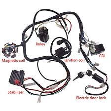 amazon com jrl 150cc gy6 wiring harness wire loom stator cdi switch jrl 150cc gy6 wiring harness wire loom stator cdi switch electrics assembly for 4 stroke
