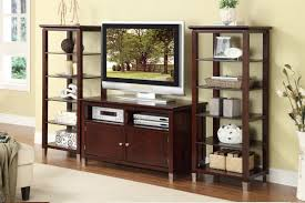 tv stand with shelves. Perfect Shelves Wood Tv Stand With Storage Cabinets Plus Two Tall Shelving Unit Cool  Stands Intended Shelves G
