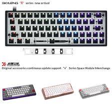 GK64XS Cơ Bộ 5.1 Bluetooth Board Tương Thích GH60 60% Mini Kim Loại Bàn Phím  Nhựa Trắng Óc Chó Gỗ Hồng Sắc|Keyboard Mouse Combos