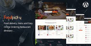Food Delivery Restaurant Directory WordPress Theme - FoodPicky by ...
