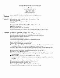 Example Nursing Resume Fresh New Grad Nurse Resume Registered Cover