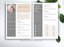 Pretty Resume Template 2 Inspiration Resume Template For MS Word Resume Templates Creative Market