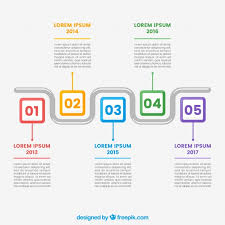 Timeline Template Colorful Timeline Template Vector Free Download