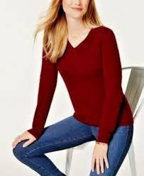 Charter Club <b>Luxury</b> V Neck <b>Long Sleeve</b> Cashmere Sweater ...