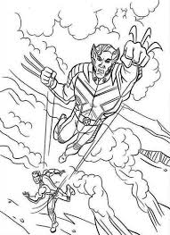 Small Picture Printable X Men Coloring Pages Comic Book Coloring Pages