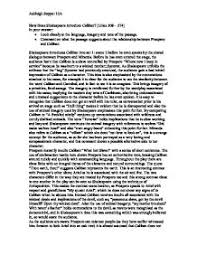 how does shakespeare introduce caliban in the tempest a level  page 1 zoom in