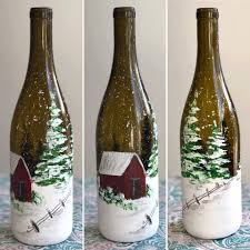 Join JLN Studio at Lazy Ballerina Winery to paint a beautiful winter scene  on a wine bottle! Check out the two different winter scenes to choose from.