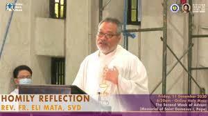 HOMILY OF REV. FR. ELI MATA, SVD - YouTube