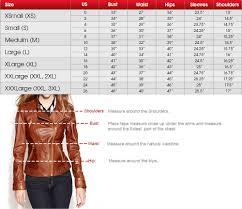 leather jacket size chart castle womens jacket size chart fashion trends of jackets