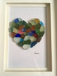 sea gl mosaic love heart seagl art valentines gift scottish sea gl heart