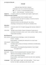 Word 2007 Resume Templates Free Resume Sample Source