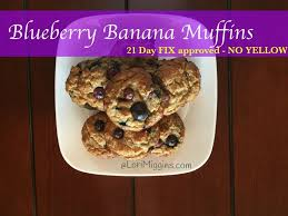 21 day FIX approved Blueberry Banana Muffins - NO YELLOWS! in ...