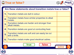 Boardworks GCSE Additional Science: Chemistry The Transition ...