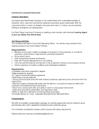 Resume For Property Management Job Leasing Agent Job Description For Resume Samples Of Resumes Real 59
