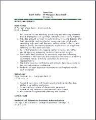 Bank Teller Resume Example Sample Bank Teller Resume Skills Example ...