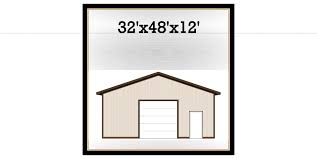 32 x 48 x 12 post frame building kit
