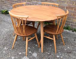 newest round drop leaf table and 4 chairs for 1960s ercol drop leaf round dining table