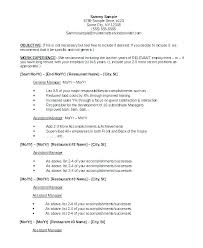 Restaurant Job Resume Best Of Examples Of Resumes For Restaurant Jobs Click Here To View This