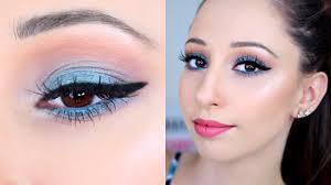 Light Pink And Blue Eyeshadow Light Blue Makeup Tutorial Essence Gday Sydney Eyeshadow Palette Vasilikis Beauty Tips