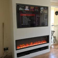 television over electric fireplace
