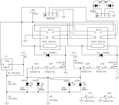 electronic projects led sensor relay tracker schematic schmitt trigger circuit