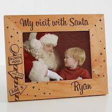 Personalized Picture Frame 5x7 Visit With Santa Christmas Clearance