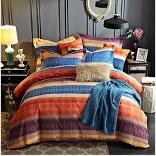 fashion 100 cotton sanding stripes plaid printed bedding set western bed sheet set man s duvet cover pillowcase queen king canada 2019 from easefit