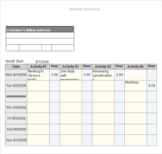 free timesheets templates excel 11 monthly timesheet templates free sample example format