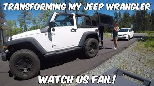 transforming my jeep wrangler no roof no doors