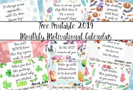 free calendar printable 2019 free printable 2019 monthly motivational calendars