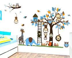 jungle wall stickers blue animal jungle wall decals jungle book wall stickers disney jungle wall stickers
