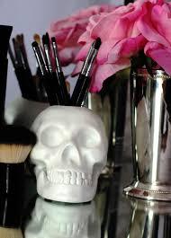 make up makeup brush holder skull conner hodi home decor brush holder skull skull makeup