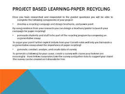 reduce reuse and recycle ppt video online  project based learning paper recycling