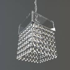 hanging crystal chandelier 3d model max obj mtl 3ds fbx 1