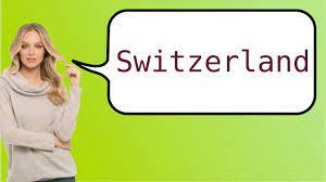 Como dizer 'Suíça' em ingles? - YouTube
