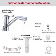 3 Way Brass Lead free Kitchen Faucet Mixer Drinking Water Filter