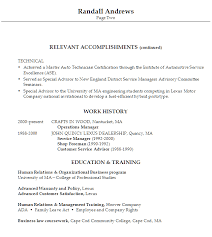 Automotive Technician And Mechanic Resume Example Vinodomia