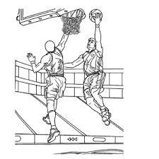 Leuk Voor Kids Sport Basketbal Kleurplaten