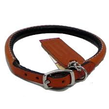 circle t leather dog collar rolled tan 12 inch dog collars leather rolled at arcata pet supplies