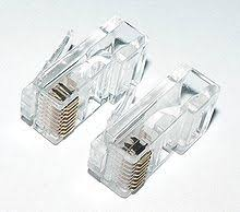 modular connector contacts for solid wire top left and stranded wire bottom right