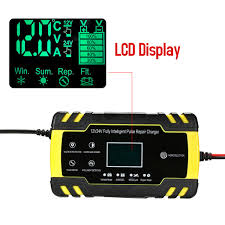 Fully Automatic Car Battery Charger <b>12V 8A 24V 4A</b> Smart Fast ...