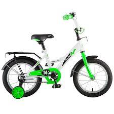 "<b>Велосипед 2-х колесный Novatrack</b> 14"" Straike белый-зеленый ..."